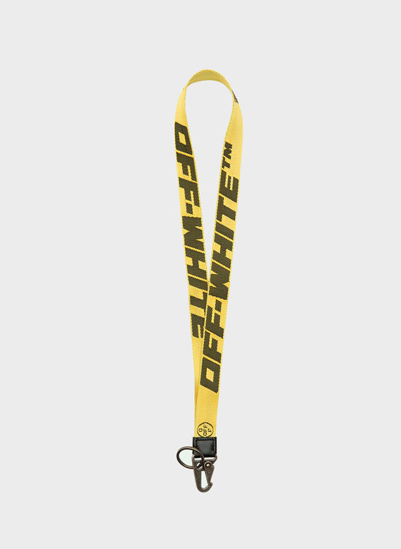 COLLANA PORTACHIAVI INDUSTRIALE, YELLOW/BLACK, medium