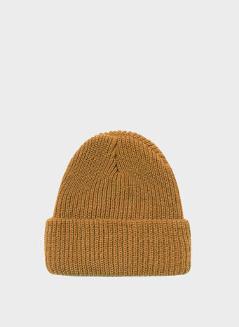 CAPPELLO BASIC CUFF BEANIE, CAMEL, small