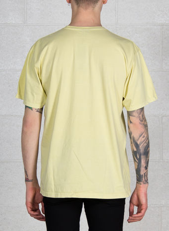 T-SHIRT PON DI ENDZ PIG. DYED TEE, YELLOW, small