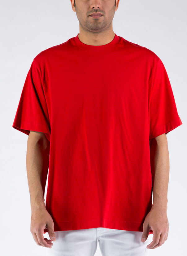 T-SHIRT CLASSIC PAPER JERSEY, SCARLET, large