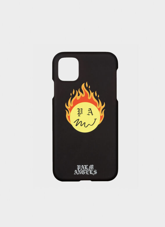 COVER BURNING HEAD IPHONE CASE 11, 1018BLACKYELLOW, medium