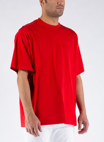 T-SHIRT CLASSIC PAPER JERSEY, SCARLET, small