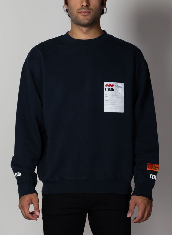 FELPA CREWNECK STICKER LABEL, OFFBLACK/MULTI, medium