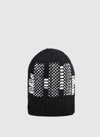 CAPPELLO KNIT BEANIE, BLACK, small