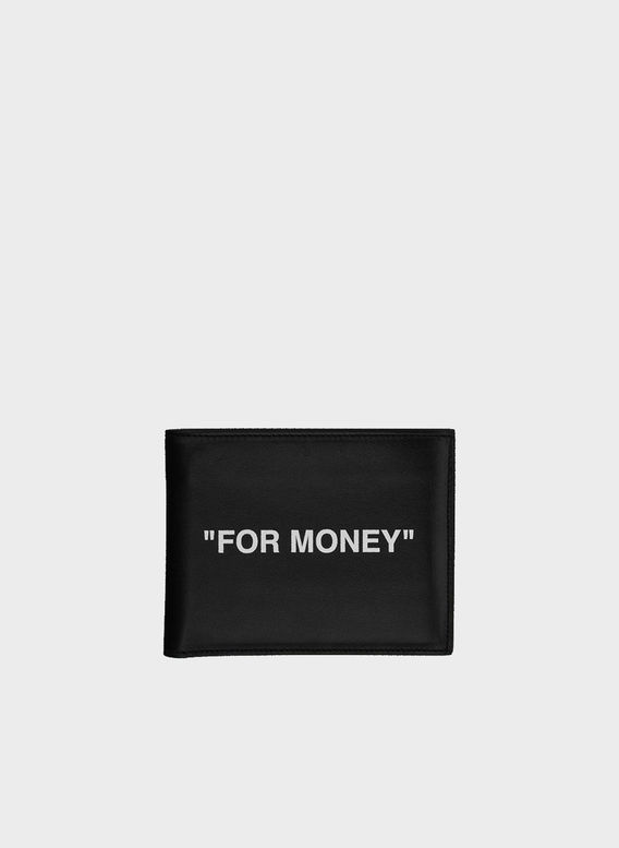 PORTAFOGLIO QUOTE BIFOLD WALLET, BLACK/WHITE, medium